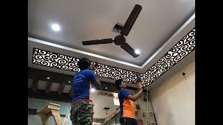 MDF जाली False Ceiling में कैसे लगाये ?  MDF Jali Fitting in False Ceiling 2019  |