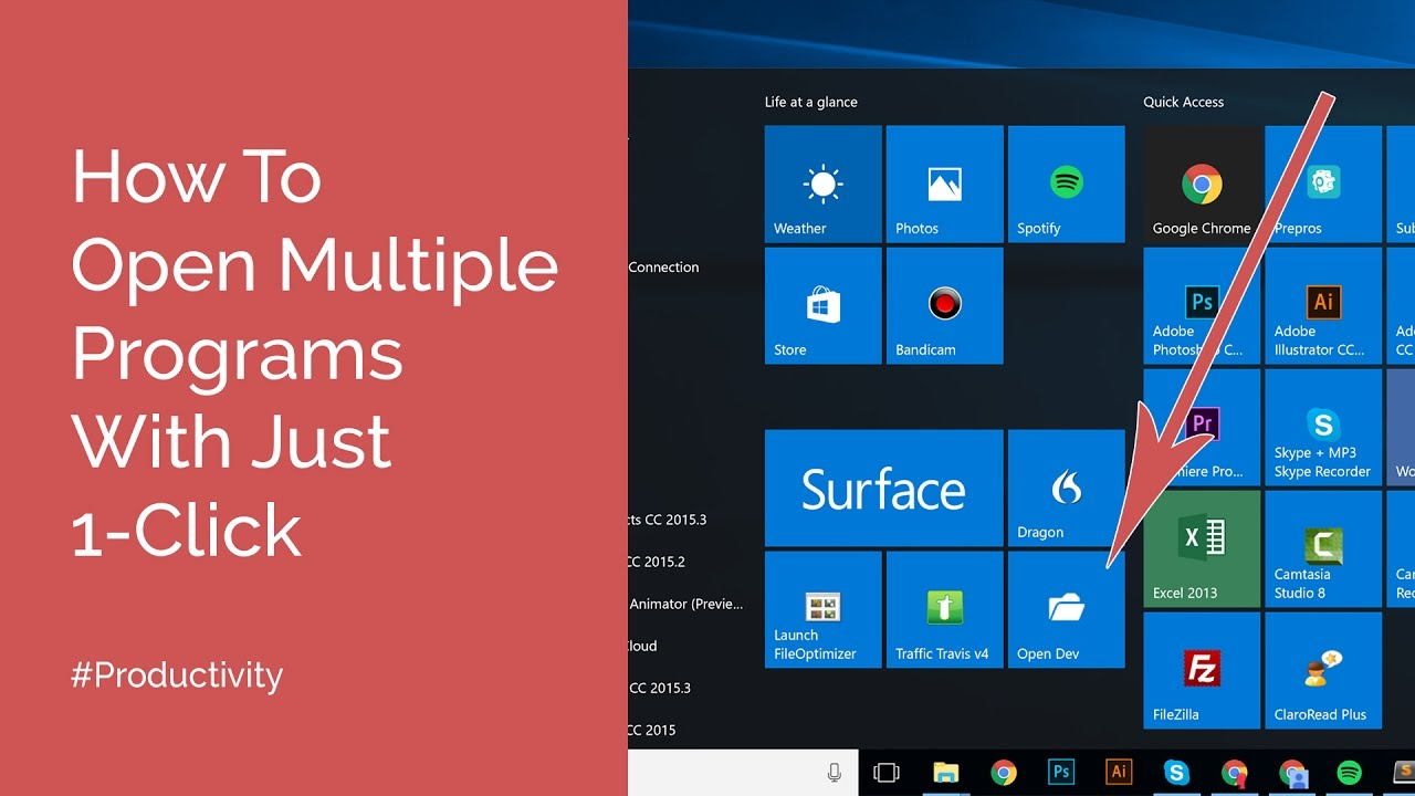 3 Easy Steps To Open Multiple Programs At Once On Windows - Henry Reith