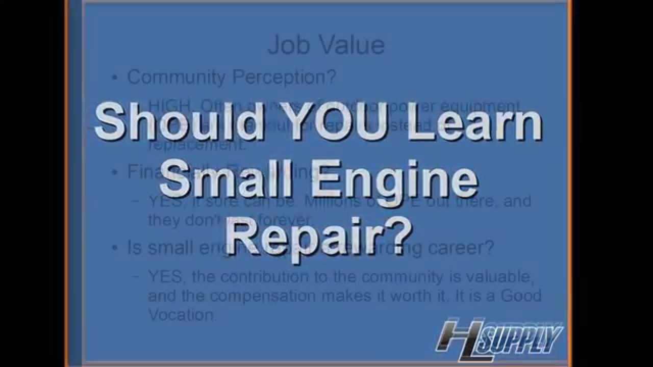 Cheap Small Engine Parts - Should you learn small engine repair