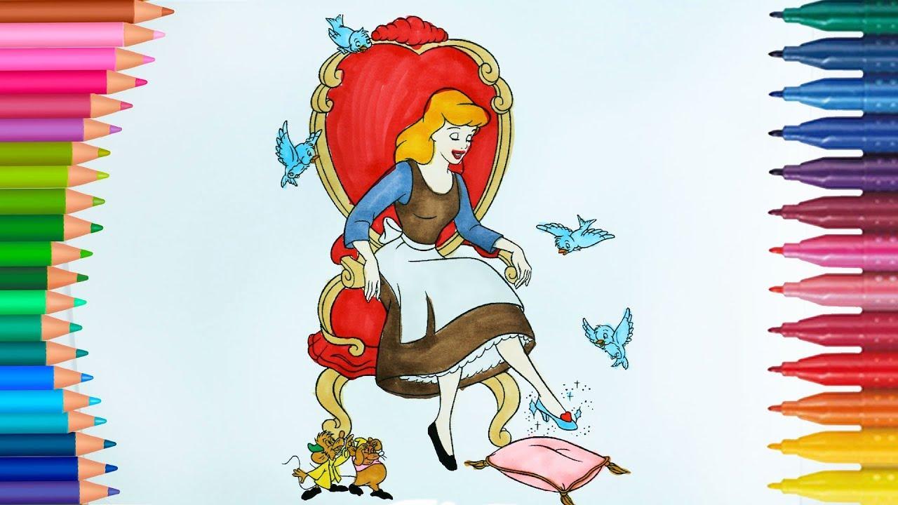 Prenses Sindirella Boyama Kitabı Boyama Videoları Boyamalar