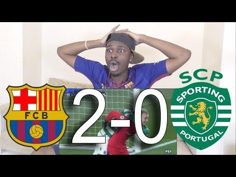 Barcelona VS Sporting Lisbon 2-0 ►All Goals & Highlights: Reaction