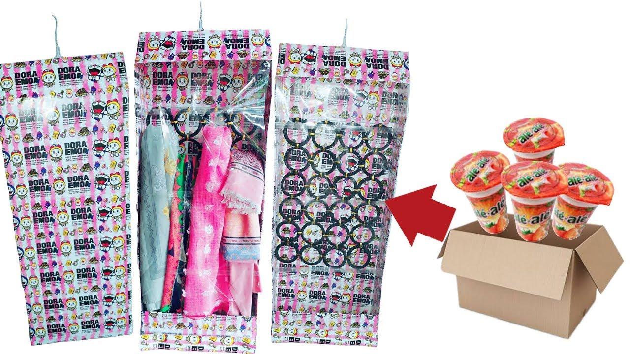 DIY  Gantungan / Hanger Jilbab Anti Debu  How To Make Hanger Of Veil  From Waste