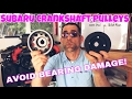 Subaru DiY | Billet Aluminum vs. OEM Steel Crankshaft Pulleys - Which is BEST?