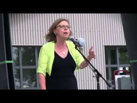Elizabeth May at Green Candidates Rally, North Vancouver, May 31, 2015