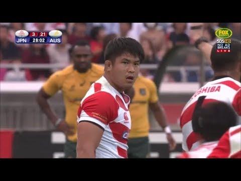 Kazuki Himeno beastly at breakdown on debut vs Australia 2017
