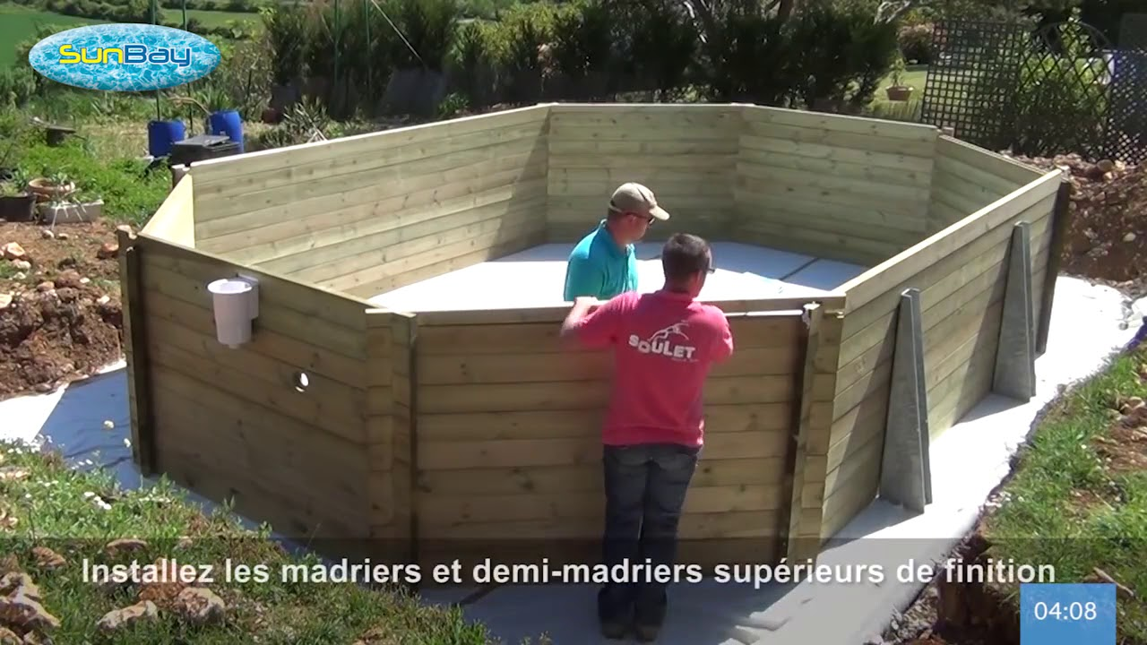 Comment Monter Une Piscine Hors Sol le terrassement, la dalle et le montage d'une piscine bois sunbay