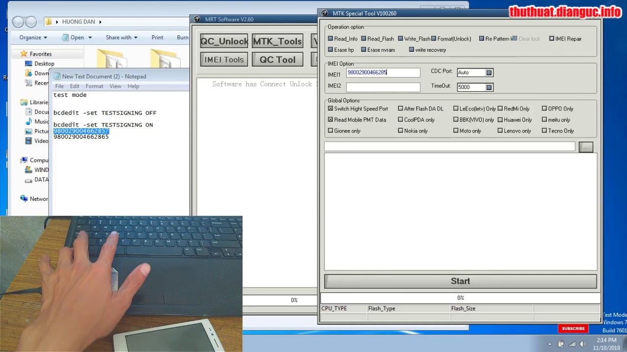 Hướng dẫn fix IMEI không hợp lệ máy chip MediaTek