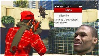 This Tryhard Thinks He's The Best Player on GTA 5 Online (Cheats and Ragequits)