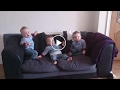 These triplets wait for their dad but watch the moment when they lose it when he turns up!