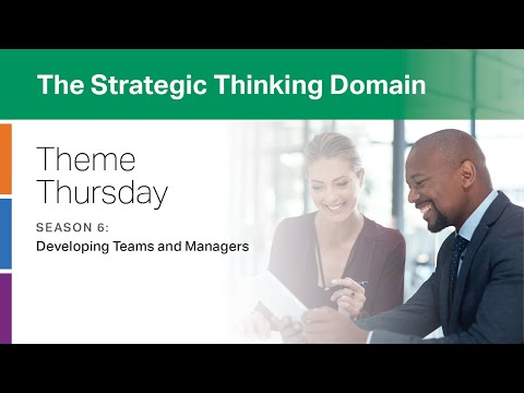 CliftonStrengths Strategic Thinking Domain: Developing Teams and Managers -- Theme Thursday -- S6