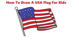 how to draw a usa flag For Kids Step BY Step Easily