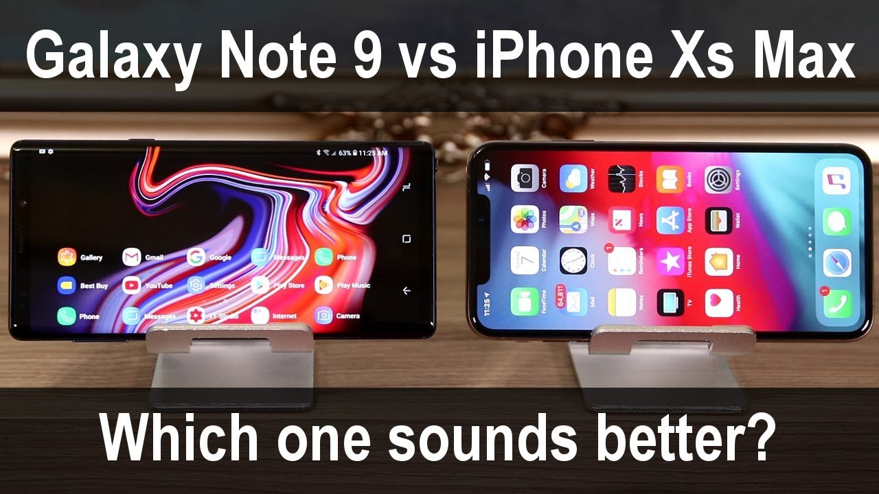 Galaxy Note 9 vs iPhone Xs Max - Stereo Speaker Quality Comparison
