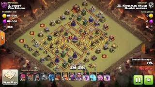 New - Electro Dragon's Attack Strategy on Max Th10 War Base.