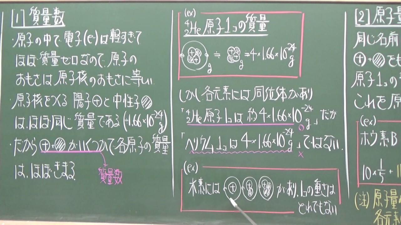 【解説動畫】理論化學/原子量(2)質量數 - YouTube