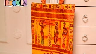 Декорирование сумки (декупаж по ткани)