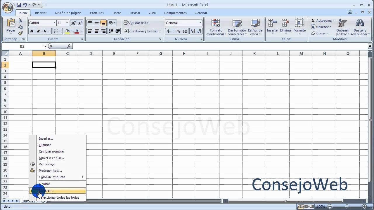 Excel 2007 2010 Ocultar Y Mostrar Hojas De Excel Youtube
