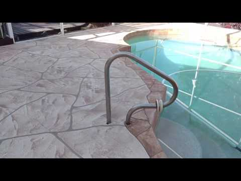 Pool Deck Cape Coral, Fort Myers FL, Concrete Resurfacing, Stain