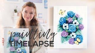 "Flower Oil Painting Timelapse | ""Blossom"" by Allison Lyon"