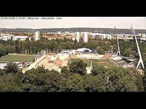 Zeitraffer - Stadionumbau Dresden RHS