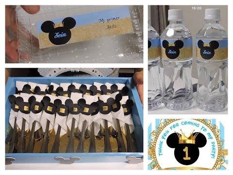 Decoración de Mickey Mouse 5 ideas para la Mesa