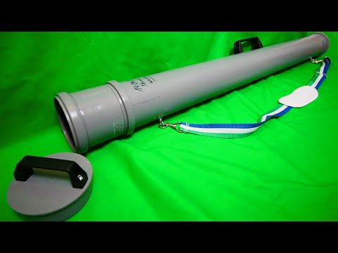 How to make a DIY Fishing Rod Carrier for 9$ in 4K