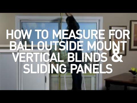 how to measure for bali outside mount vertical blinds and sliding panels youtube. Black Bedroom Furniture Sets. Home Design Ideas