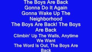 High School Musical 3 - The Boys are Back with Lyrics