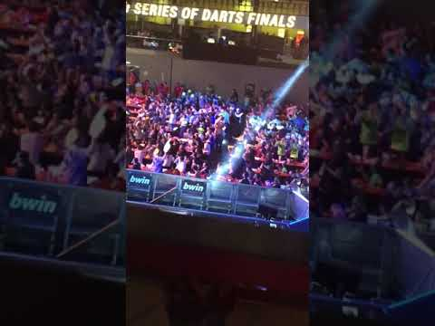 World Series Finals in Vienna   Crowd singing the Phil Taylor song