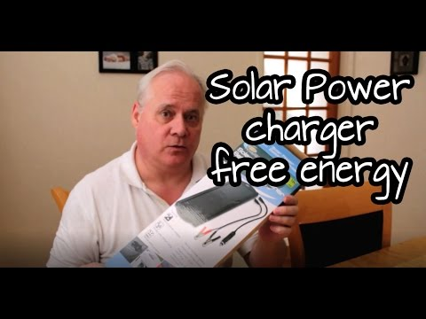 Solar powered car battery charger maintainer unboxing