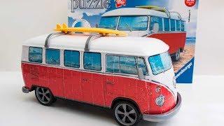 VW Bus 3D Puzzle Timelapse