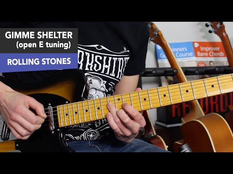 The Rolling Stones  Gimme Shelter Guitar Lesson Tutorial  Open E Tuning