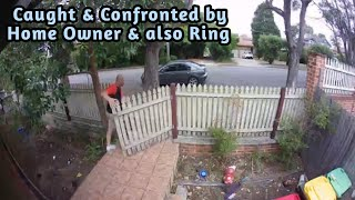 Porch Pirates and Burglary Suspects Attempts Confronted and Caught By Ring