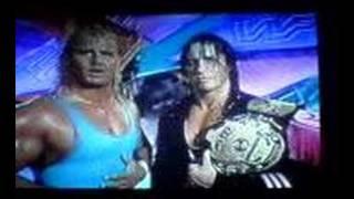 WWF Razor Ramon vs Mr Perfect & Bret Hart prefight