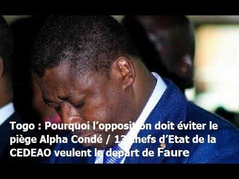 Togo :  Pourquoi l'opposition doit éviter le piège Alpha Condé