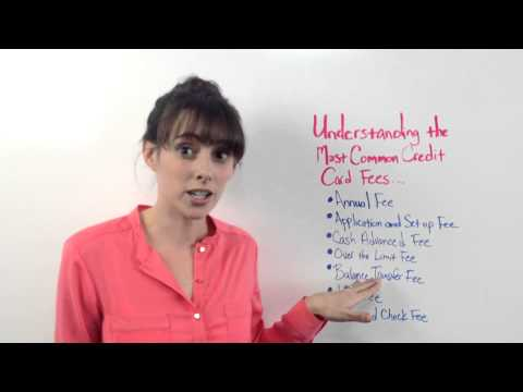 Understanding Common Credit Card Fees