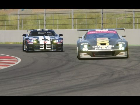 Battle Lister Storm GT2 vs Dodge Viper GT2 Competition Coupe Racing at Barcelona