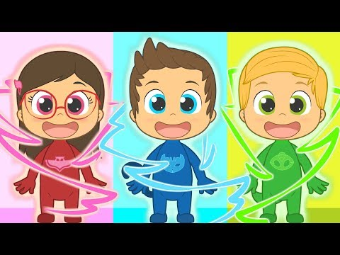 Five Little Babies with PJ Masks   Connor, Amaya and Greg   Nursery Rhymes for kids - Как поздравить с Днем Рождения