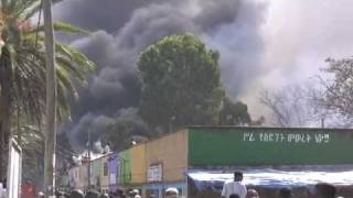 African market place burns down.