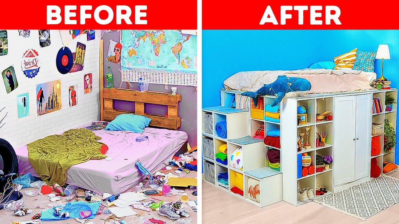 BEDROOM TRANSFORMATION || Cool Home Decor And Room Design Ideas