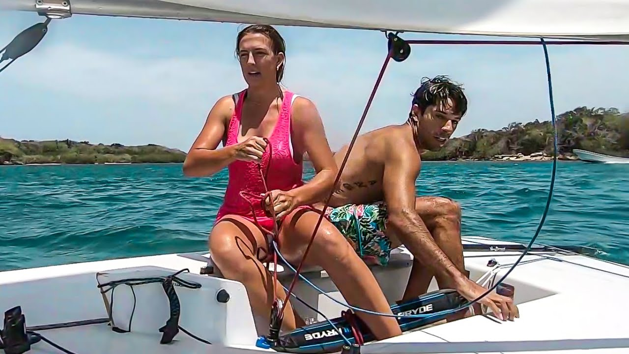 Sailing a Laser for the 1st Time in Our Lives! WOAH 😲 Ep 134