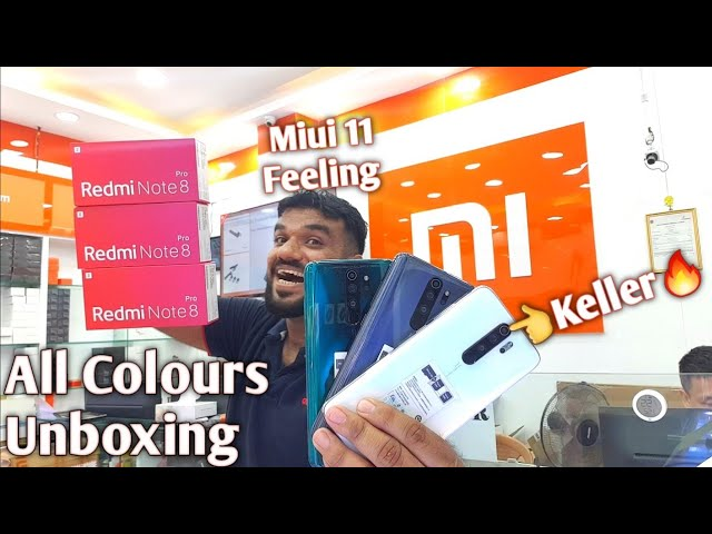 Redmi Note 8pro Unboxing With Miui 11 Feeling.. All Colours White Green Grey