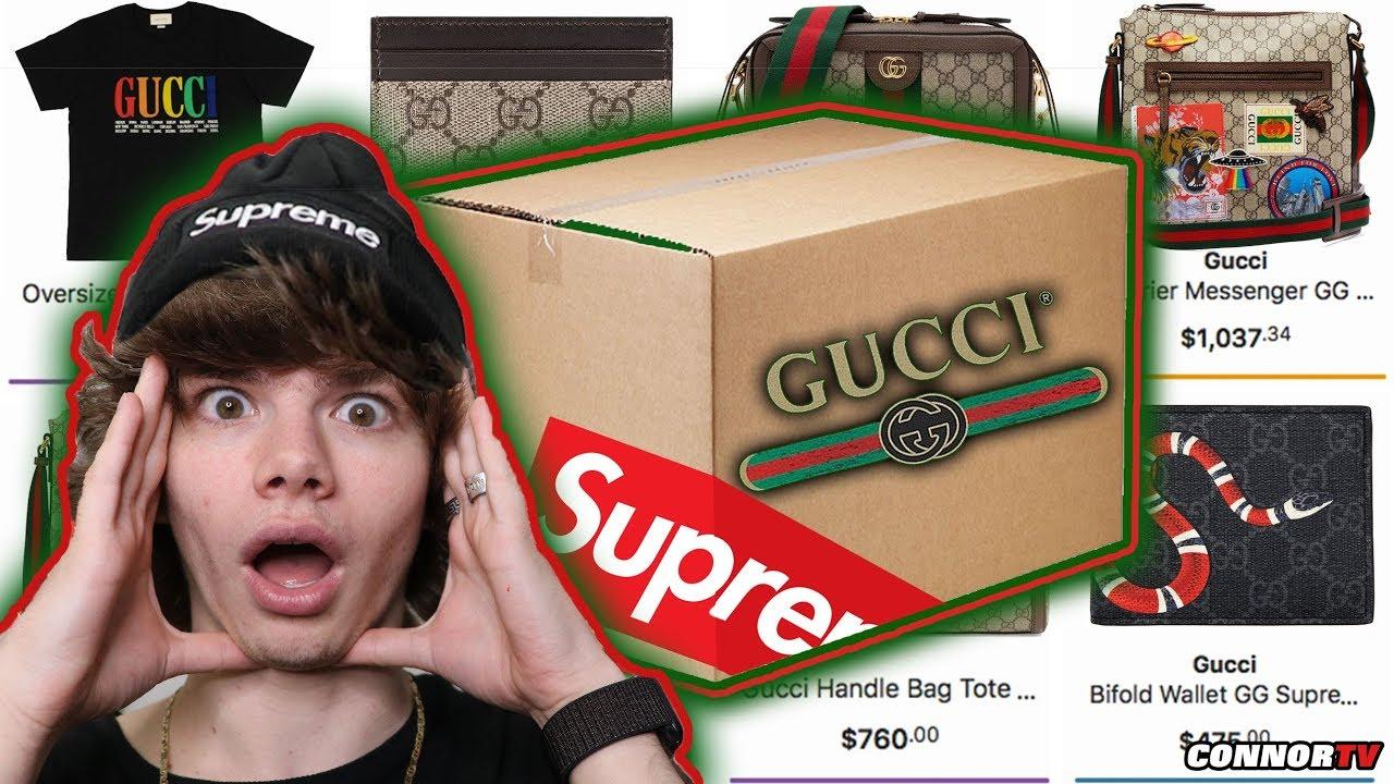 INSANE $1,000 Online Hypebeast Mystery Box! GUCCI Supreme ...