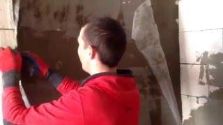 видео Оштукатуривание стен из пеноблоков: технология