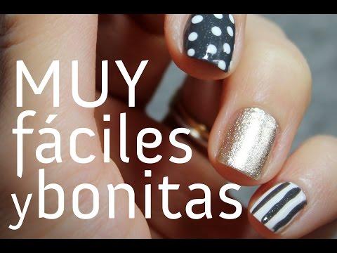 Cómo hacer una decoración de uñas MUY FÁCIL y bonita paso a paso