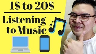 Earn Money Listening to Music! $1 to 20$ per Song - Tagalog