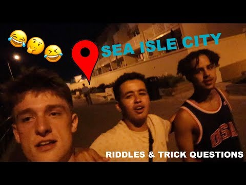 MOBBED In Sea Isle City!! | Riddles & Trick Questions!! (Gone Wrong)