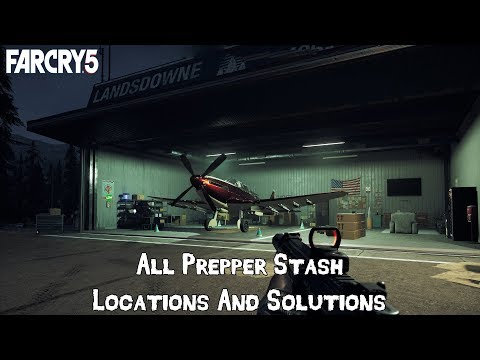 FAR CRY 5 - All Prepper Stash Locations & Solutions [Easy Money & Perk Points]