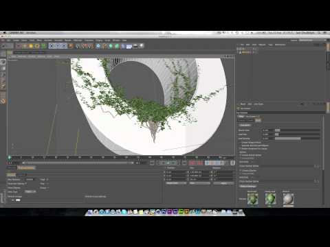 How to use the Ivy Generator Plugin in Cinema 4D (Links in Description)