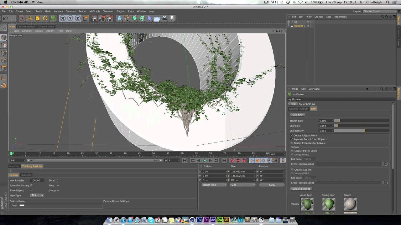 Ivy grower plugin для cinema 4d скачать