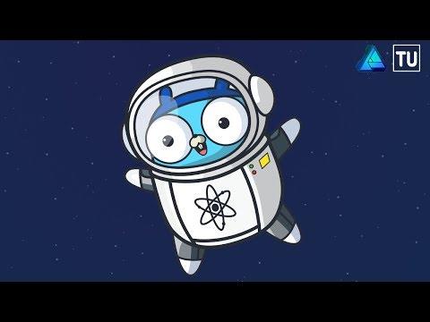 Gopher Astronaut Vector Illustration in Affinity Designer thumbnail